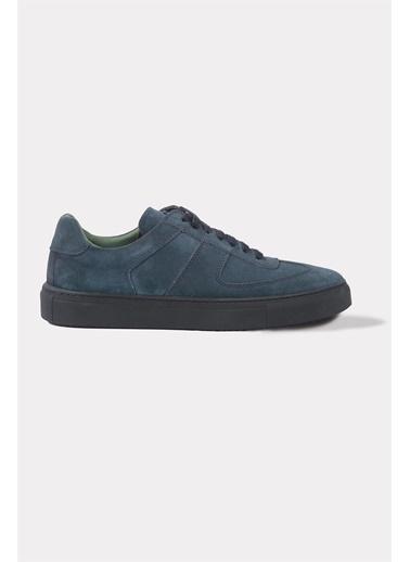 Krähe Corb Jean Süet Minimal Sneaker Mavi